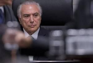 O presidente Michel Temer Foto: Jorge William / Agência O Globo