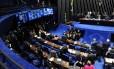 Plenário do Senado durante sessão deliberativa extraordinária desta quarta-feira