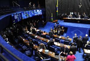 Plenário do Senado durante sessão deliberativa extraordinária desta quarta-feira Foto: Jonas Pereira / Jonas Pereira/Agência Senado
