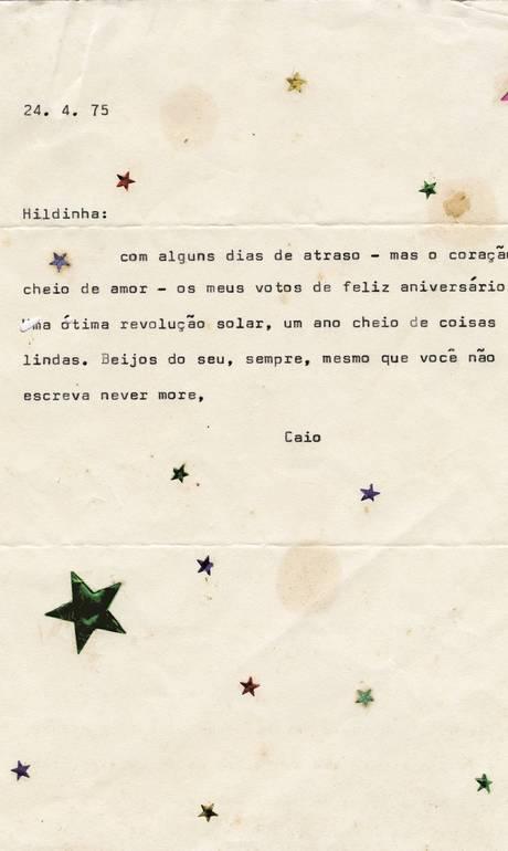 Excepcional Com cartas inéditas, livro retrata amizade de Caio F. e Hilda  NB01