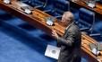 De saída. Peemedebista encerra seu ciclo como presidente do Senado