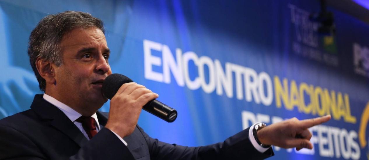 Aécio Neves é o presidente nacional do PSDB desde 2013 Foto: Ailton de Freitas / Agência O Globo