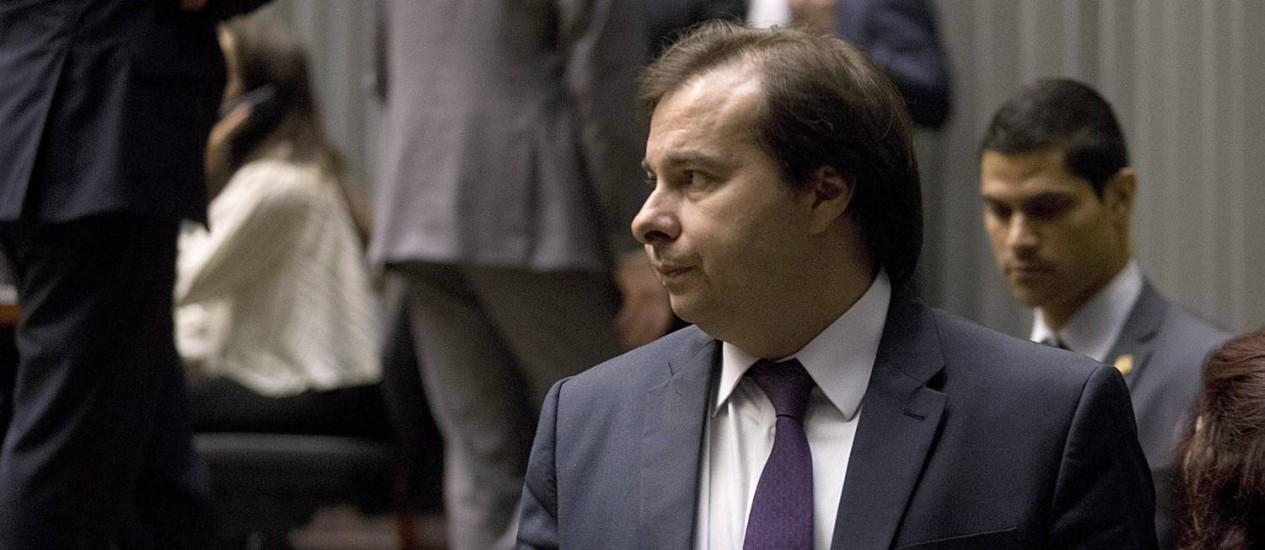 Rodrigo Maia disse que Luiz Fux deveria rever decisão de anular votação da Câmara Foto: Jorge William / Agência O Globo