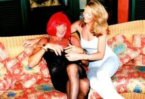 Rod Stewart e a mulher, Penny Lancaster Foto: Reprodução