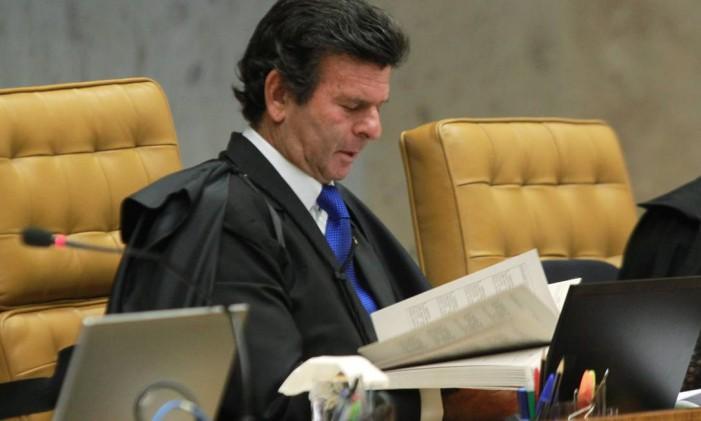 O ministro do STF Luiz Fux Foto: Givaldo Barbosa / Agência O Globo