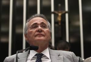 O presidente do Senado, Renan Calheiros (PMDB-AL) Foto: Givaldo Barbosa / Agência O Globo