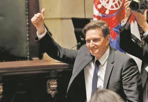 O prefeito Marcelo Crivella Foto: Gabriel de Paiva / O Globo