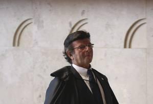 O ministro Luiz Fux no Supremo Tribunal Federal Foto: André Coelho / Agência O Globo