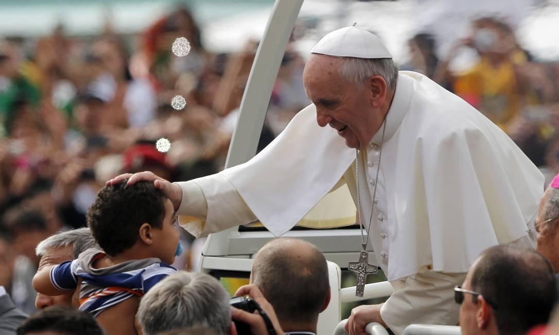 Papa em visita ao Rio de Janeiro, em 2013, para celebração da Jornada Mundial da Juventude Jorge Saenz / AP