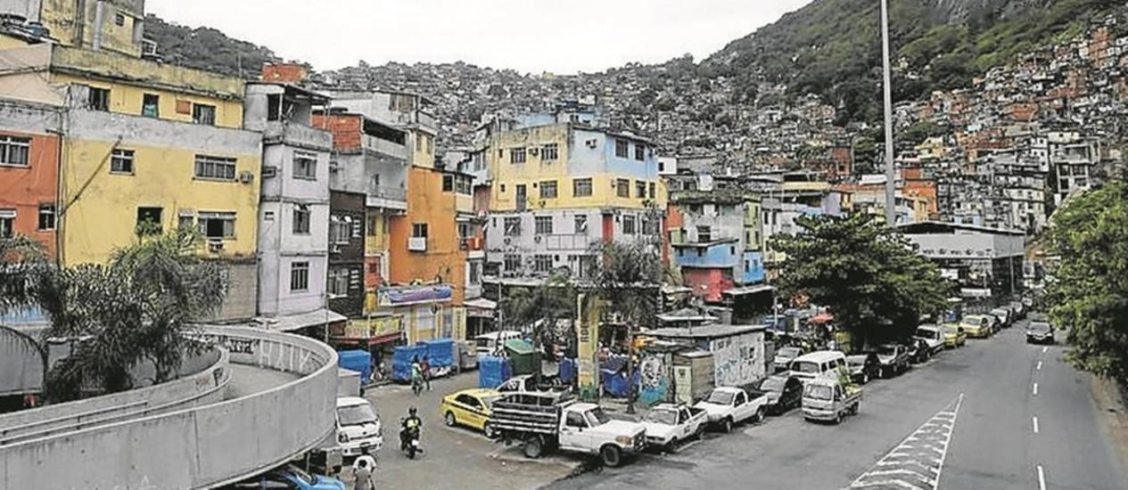 Expansão. A Rocinha, em São Conrado, é alvo de traficantes de São Paulo Foto: Domingos Peixoto