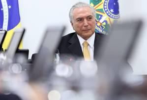 O presidente Michel Temer Foto: ANDRE COELHO/ Agência O Globo