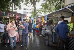 Feira gastronômica contou com a participação de 13 refugiados e migrantes Foto: Analice Paron/Agência O Globo