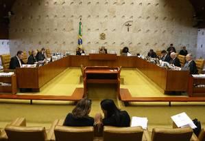 Sessão reúne ministros do Supremo Tribunal Federal Foto: Ailton de Freitas/ Agência O Globo