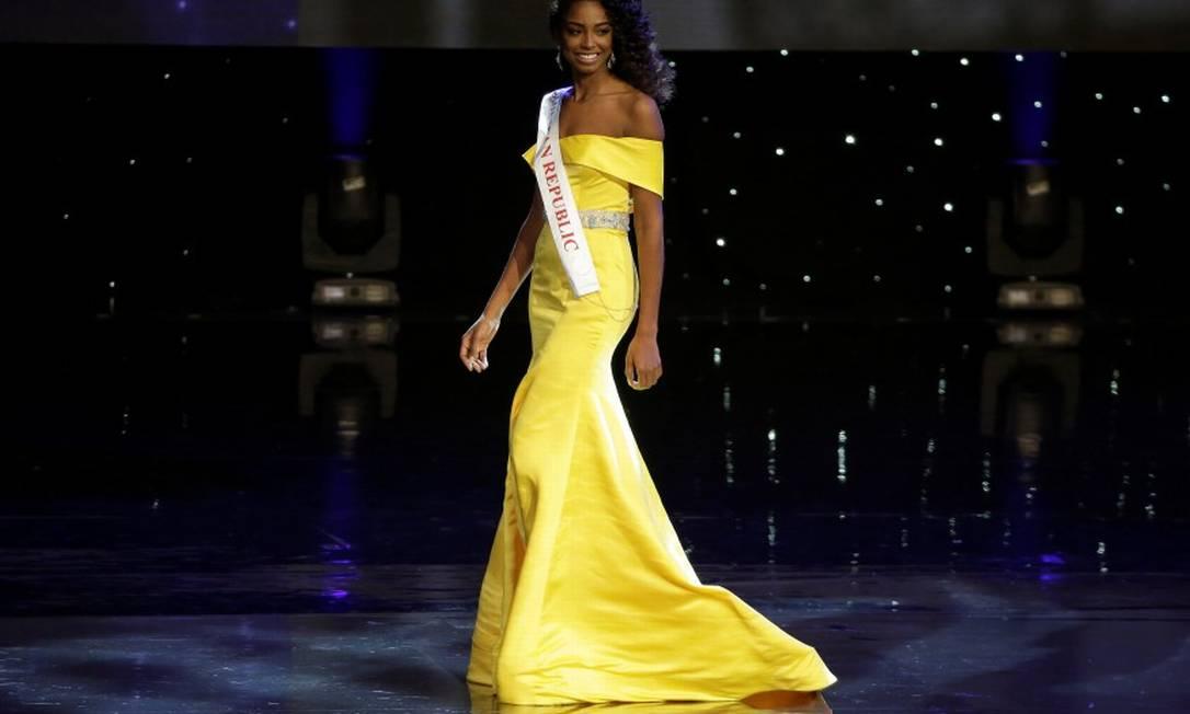 Em segundo lugar, ficou a Miss República Dominicana, Yaritza Miguelina Reyes Ramirez JOSHUA ROBERTS / REUTERS