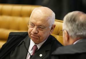 O ministro Teori Zavascki, do Supremo Tribunal Federal Foto: Ailton de Freitas / Agência O Globo / 14-12-2016