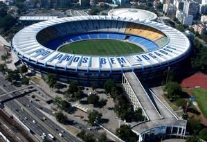 Vista aérea do estádio do Maracanã Foto: Genilson Araújo / Agência O Globo