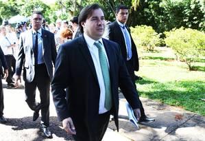 O presidente da Câmara, Rodrigo Maia Foto: Ailton de Freitas / Agência O Globo