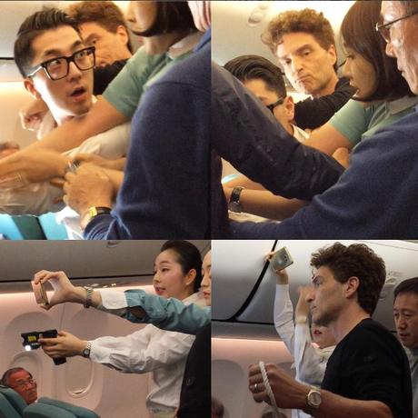 Richard Marx ajuda a imobilizar homem que agredia outros em voo na Coreia do Sul Foto: Reprodução/Instagram de Daisy Fuentes
