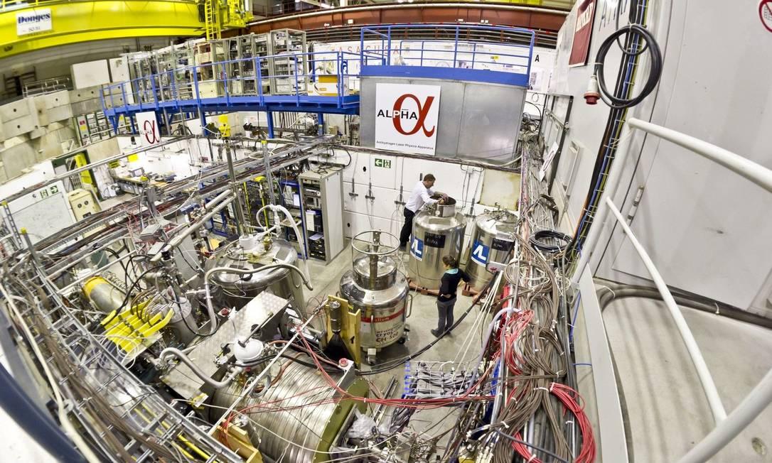 Armadilha onde os cientistas capturam e aprisionam átomos de anti-hirogênio Foto: / Divulgação