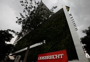 A sede da Odebrecht em São Paulo Foto: Paulo Whitaker / Reuters / 21-12-2016