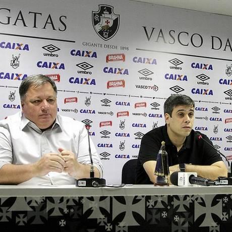 Anderson Barros e Euriquinho na coletiva do Vasco Foto: Paulo Fernandes/Vasco.com.br