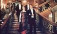 """Cena do filme """"Titanic"""" na escada"""
