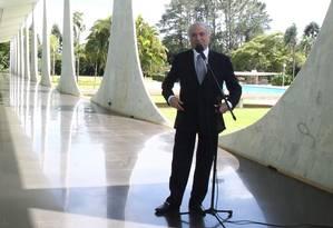O presidente, Michel Temer Foto: Givaldo Barbosa / Agência O Globo / 22-12-2016