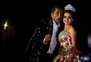 Rubí Ibarra posa durante sua festa de 15 anos em Villa Guadalupe Foto: RONALDO SCHEMIDT / AFP