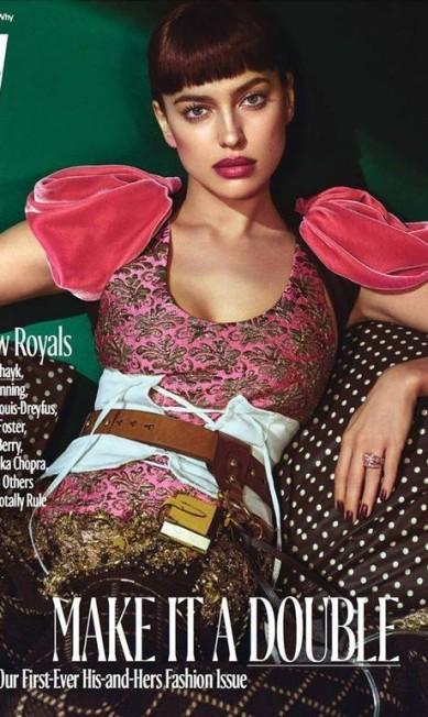 """Em outubro, Irina ganhou a capa da revista """"W""""... Digulgação"""