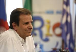 O ex-prefeito do Rio Eduardo Paes Foto: Custódio Coimbra / Agência O Globo