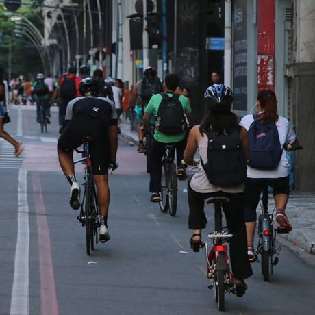 No Centro. A ciclofaixas Foto: Divulgaçõ/Alexandre Vieira
