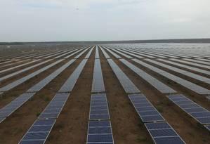 Planta solar em Ituverava, na Bahia, construída pela Enel Green Power Brasil Foto: Divulgação