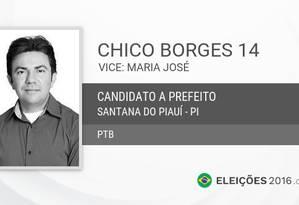Francisco Raimundo de Moura, o Chico Borges (PTB) Foto: Reprodução da internet