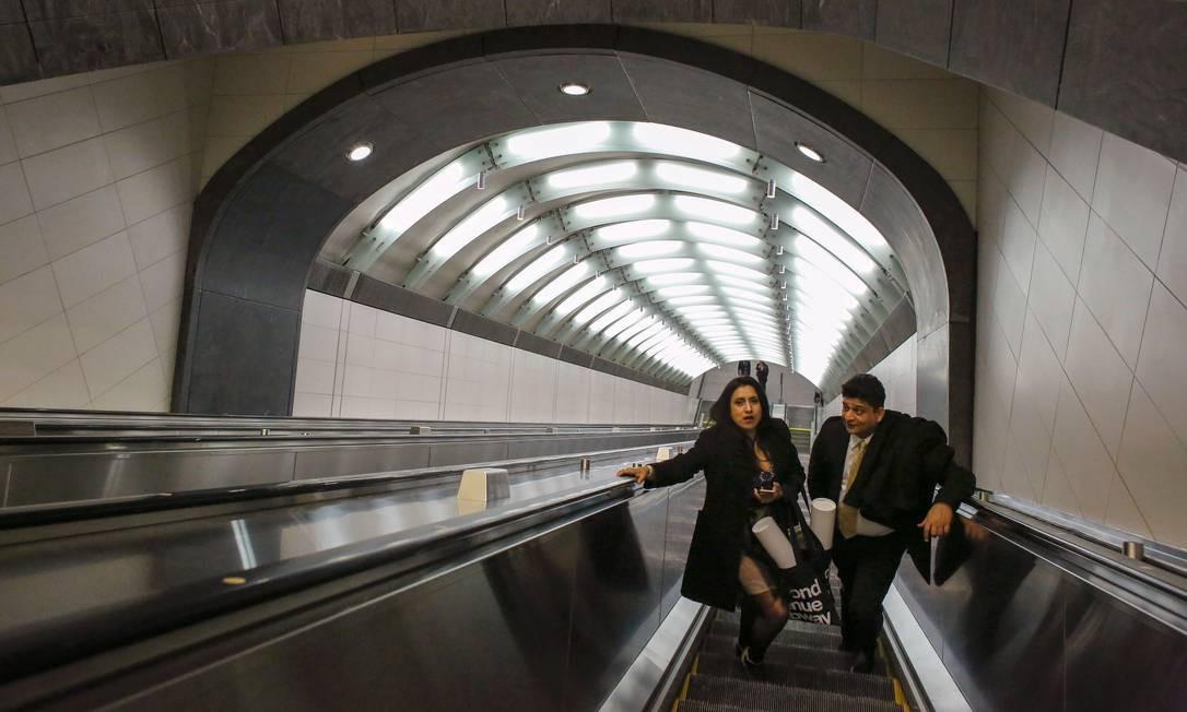 Na primeira fase do projeto, inaugurada em 1º de janeiro, foram abertas quatro novas estações Foto: Kena Betancur / AFP