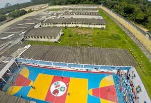 Complexo Penitenciário Anisio Jobim, onde guerra de facções deixou 56 mortos Foto: SESIP/ HO / AFP