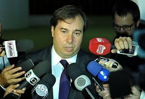 Presidente da Câmara, Rodrigo Maia, critica recurso ao Supremo para impedir a candidatura dele Foto: Gilmar Felix/ Agência Câmara
