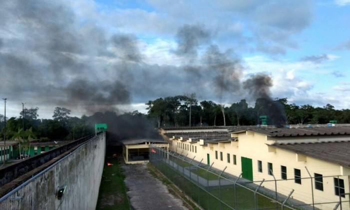 Guerra de facções deixou 56 mortos no Complexo Penitenciário Anísio Jobim (Compaj), em Manaus Foto: A Crítica