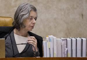 A ministra Cármen Lúcia, presidente do Supremo Tribunal Federal Foto: Jorge William / Agência O Globo / 7-12-2016