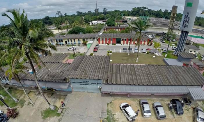 Complexo Penitenciário Anisio Jobim, em Manaus, onde 56 presos foram mortos durante guerra entre facções criminosas Foto: HO / AFP
