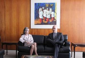 O ministro da Justiça, Alexandre de Moraes, se reúne com a presidente do STF Cármen Lúcia Foto: Jorge William / Agência O Globo