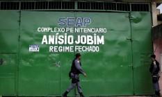Entrada do Complexo Penitenciário Anísio Jobim (Compaj), em Manaus Foto: Ueslei Marcelino/Reuters/03-01-2017