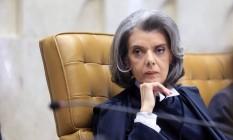 Ministra Cármen Lúcia durante cerimônia de posse Foto: Fellipe Sampaio / O Globo
