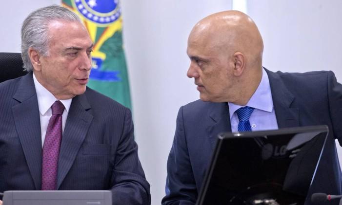 Temer falou pela primeira vez sobre massacre que aconteceu há cinco dias em Manaus Foto: Jorge William / Agência O Globo