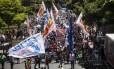 Servidores do estado fazem protesto em Laranjeiras contra atraso de salário