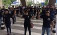 Peritos do IML de Manaus fazem ato em frente ao Tribunal de Justiça do Amazonas