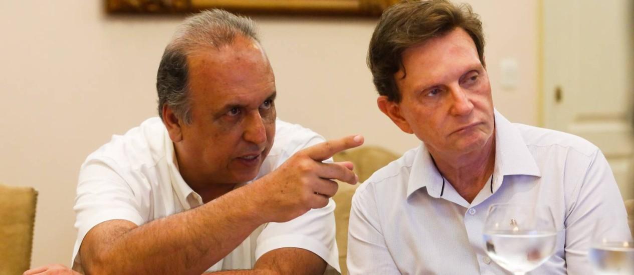 Pezão e Crivella se reúnem pela primeira vez Foto: Shana Reis / Divulgação
