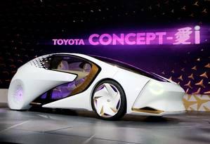 O Toyota Concept-i foi desenvolvido com foco na interação entre o motorista e o carro Foto: RICK WILKING / REUTERS