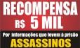 Polícia Civil oferece R$ 5 mil por informações que levem à prisão de assassinos de policiais