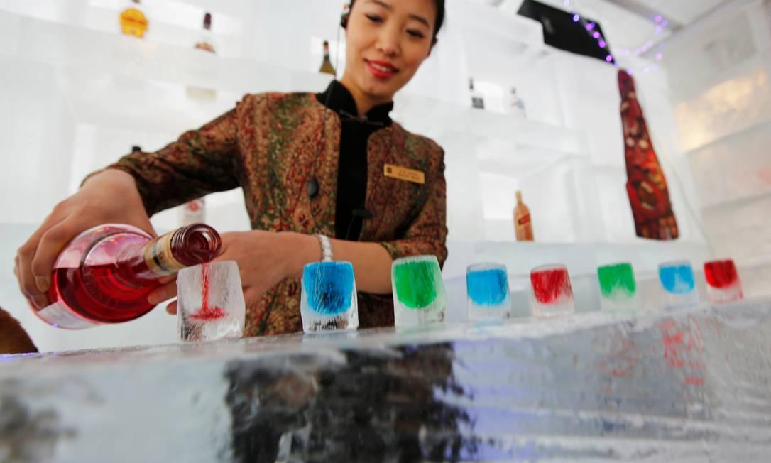 Festival acontece anualmente e tem diversas atividades no gelo © Kim Kyung Hoon / Reuters / REUTERS
