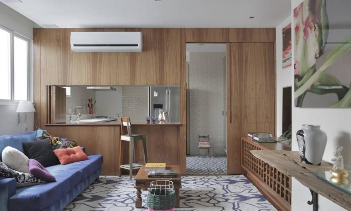 Apartamento integrado tem solu es criativas para dividir - Dividir ambientes ...